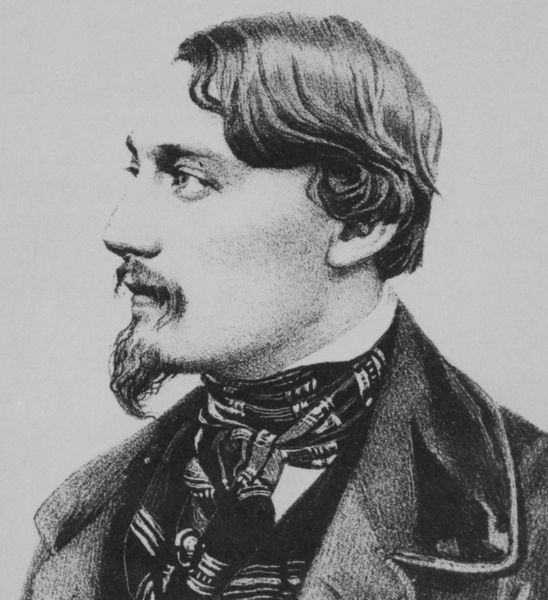 Karl Gutzkow (Lithographie um 1840)